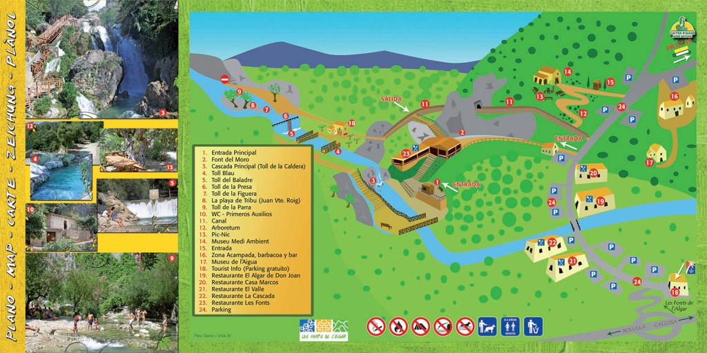 Algar Waterfalls Map